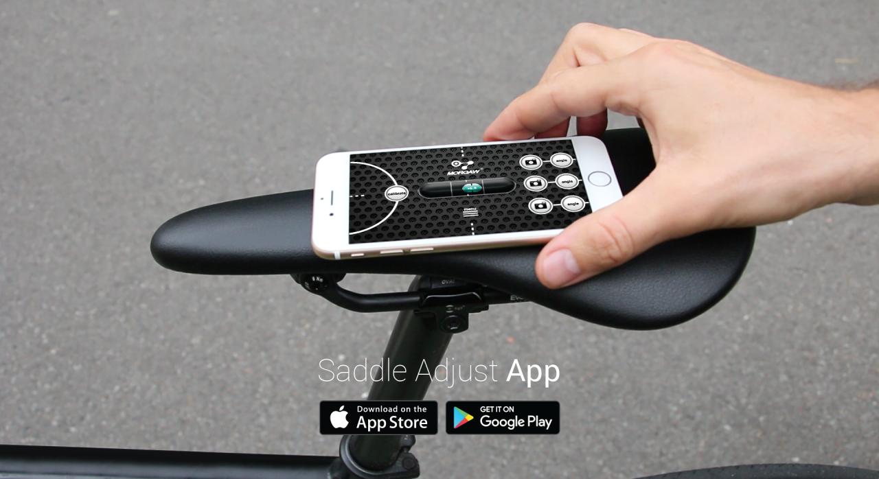 Racefiets zadel afstellen? Gebruik deze app!